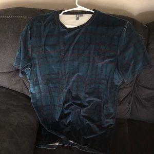 Asos velour check shirt